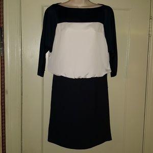 Ann Taylor Loft Navy Blue/Black Dress Sz 2